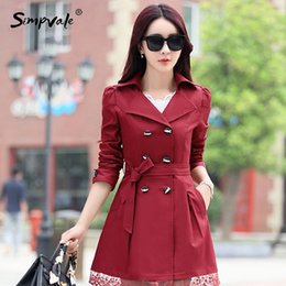 Wholesale Women S Trench Coat Pattern - Wholesale- M-3XL 9 Color Office Lady Coats Outwears Lace Button Solid Slim Burderry Trench Coat Ladies Spring Autumn Woman Clothing