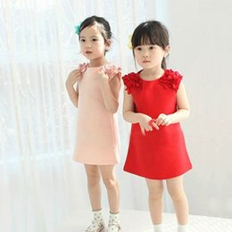 Wholesale Baby Dress Free Ems - Girls Princess Dress Free Shipping EMS Sweet Summer Style Flower Children Clothing Fashion Kids Baby Girls Dresses