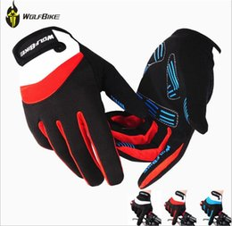 Wholesale Gloves For Bicycle - New WOLFBIKE Bike Bicycle Gloves Men's Full Finger Winter Warm Cycling Biking Racing Slip for mtb riding Gloves M L XL free shipping
