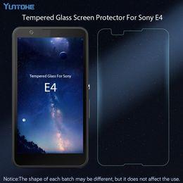 Sony xperia e4 écran en Ligne-9H Premium Verre Trempé Pour Sony Xperia E4 Film Protecteur D'écran Pour Sony E4 Verre 50pcs / lot