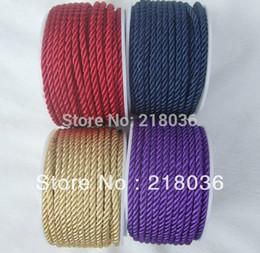2019 halsketten-endhaken 100 Yards Mode Vintage Twisted Rayon 3mm Cord Fit DIY Armbänder Halsketten Schmuckzubehör Handwerk Zubehör N746