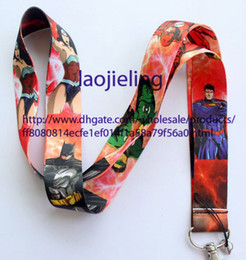 Wholesale justice league wholesale - Wholesale Mobile Phone Accessories Justice League Superman lanyard Mobile Phone Straps Free shiping Wholesale 20 pcs