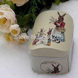 Wholesale Rabbit Jewelry Box - Easter Peter Rabbit Tin Box ZAKKA Europe Style Retro Mini Jewelry Boxes Storage Case door gifts for kids 100pcs wholesale