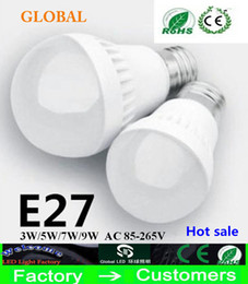 discount bulbs Promo Codes - Big discount 3W 5W 7W 9W LED bulbs LED Globe Light Energy Saving Ac85-265V E27 Dimmable led lamp 3 years warranty led lights free shipping