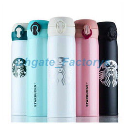 Wholesale Wholesale Starbucks Coffee Mugs - 304 Stainless Steel Starbucks Portable Cups Coffee Water Cup Insulation Vacuum Cars Beer Mugs 450ml 50pcs