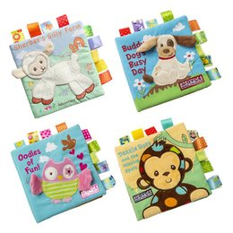 Wholesale Counting Books - JJOVCE animals, embroidered cloth, books, puzzle books, three-dimensional cloth books, baby cloth, books torn cloth books