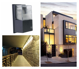 Wholesale Metal Outdoor Lights - 10W 20W 30W Led Wall Pack Replace 40W 80W 100W Metal Halide Lamp LED Wall Lights IP65Led Mini Wall Outdoor Lighting 110-240V