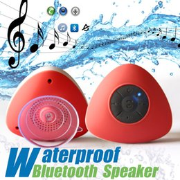 Wholesale Patent Car - New patent Waterproof Bluetooth Wireless Speaker handfrees with mic sucker speakers for shower car smartphone good quality for iphone