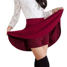Wholesale High Waist Skirt Korean - Wholesale- Summer Style Korean version Skirts safty mini skirt women's spring and summer high waist pleated short skirt