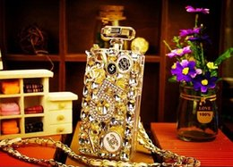 Wholesale S4 Rhinestone - Bling bling 2c case glitter crystal pearl silicone phone case cover for samsung galaxy s4 s5 s6 s6edge note3 note 4 note5 s7edge
