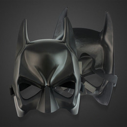 Wholesale Masquerade Party For Children - DHL Shipping Free Black Half face Batman Masks Halloween Masquerade Party Face Mask (One Size) Fit For Child and Adult