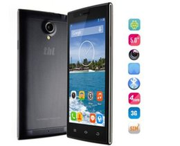Wholesale Thl Sim - Hot sale Original THL T6S Cell Phone Quad Core MTK6582 5.0 Inch IPS Android 4.4 Smartphone 1G RAM 8G ROM 3G GPS Dual SIM Unlocked Phone