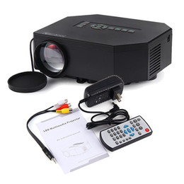 Wholesale Outdoor Education - Wholesale- UC30 Portable Mini 1080P HD LED LCD outdoors Projector beamer, Support PC TV Laptop HDMI VGA SD USB AV powered by power bank