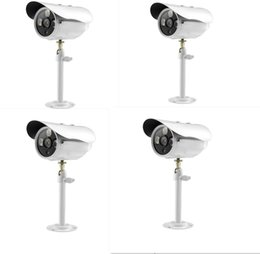 Wholesale Leds Board - Free Shipping 4PCS HD 1300 TVL Apollo Chip Outdoor IP66 Waterproof 3 LEDs CCTV Camera Built-in IRCUT Lens 6mm(Default) MTK S436