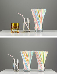 Wholesale Coloured Mugs Wholesale - Brand New PP Drinking Straws Durable Suckers for Mugs Tumblers for Juice Coffee, flexible, assorted striped colours
