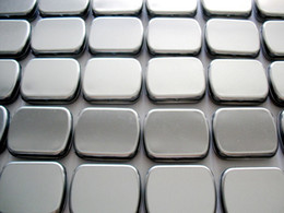 Wholesale Metal Tin Box Plain - Hinge tin box Rectangle tin silver muji tin gift box sealing plain tin box 60x50x17mm