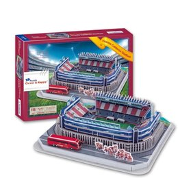 Wholesale Model Paper Toy - Hot Sale 3D Puzzle Stadium Model Atletico Madrid Home Field Vicente Calderon Stadium Football Pitch Paper Model Toys Decoration