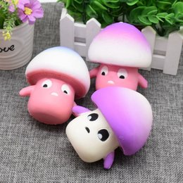 Wholesale Toy Mushrooms Kids - Wholesale 9cm Kawaii Squishy Mushroom Slow Rising Squeeze Toy Relieve Anti Stress Reduce Autism Fidget Toy For Kids Adults Toy Gift