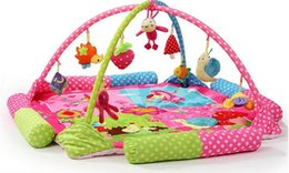 Wholesale Free Sporting Games - Baby play mat colourful game blanket with fitness rack crawling rugs educational toys activity carpet musical play gym mat free shipping
