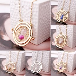 Wholesale Hermione Granger Time Turner - film jewelry for fans Hermione Time Turner Pendant necklace Granger Rotating Spin Hourglass Pendant Necklace Movie Jewelry