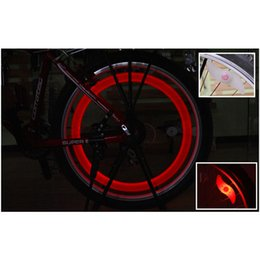 Wholesale Electric Bike Free Wheel - Hot Bike Bicycle LED Lights Motorcycle Electric car Wheels Spokes Lamp Silicone 4 colors flash alarm light DHL Free Shipping