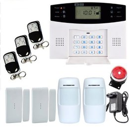 Wholesale Home Alarm Wired - Smart Russian Spanish English French voice LCD gsm alarm system Wireless and wired Home alarm system Burglar alarm system