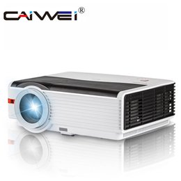 Wholesale Multimedia Entertainment - Wholesale- CAIWEI CW-A9 HDMI USB Home Media Player TV Projetor Multimedia Entertainment Proyector Led HD Projector 1080P 5000 Lumens