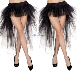 Wholesale Ladies Free Size Dress - Sexy short Dress Yong Ladies Multilayer High Low 2015 Adult Tutu Tulle Bust Skirts A Line Plus Size Skirt