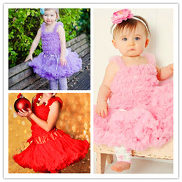Wholesale Cute Babies Red Roses - Girls Tutu Skirt Baby Baby Girl Dress Kids Girls Dancewear Cute Chiffon Tutu Pettiskirt Princess Rose Skirt 3-6Y