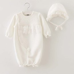 Wholesale Newborn Girl Winter Dresses - Newborn Romper Kid Girl Dress Baby Onesies Children Clothes Kids Clothing 2015 Autumn Winter Jumpsuit Princess Lace Romper Baby Dress C16929