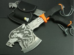 Wholesale Multi Axe - Multi-purpose camp axe tiger wolf head pattern hatchet mountain axe AX outdoor camping supplies 1pcs