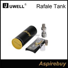 Wholesale unique tank tops - Uwell Rafale Sub Ohm TC Tank 5ml Capacity 22mm Diameter Top Fill Method Dual Adjustable Airflow RBA Available Unique Parallel Coil Design