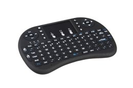 Wholesale Tv Air Phone - HOT selling! 2.4G Wireless Qwerty wifi keyboard with touch pad Air flying squirrel mouse for phone pad PC Smart TV Free Shipping