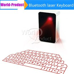 Wholesale Keyboards For Iphone - Newest Virtual Bluetooth Keyboard laser Projection Wireless Laser Keyboard with Music Playing For Ipad Iphone Samsung phone free 002903