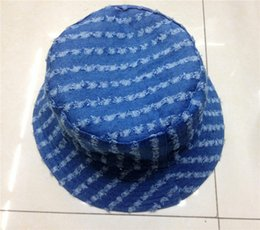 Wholesale Vintage Mans Derby - Nrewest Vintage Denim Bucket Hat For Girls And Boys Unisex Outdoor Sport Fishing Sun Caps Free Shipping