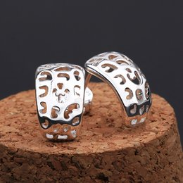Wholesale Silver Turquoise Jewelry Box - Chinese Ethnic Styles Drop earrings 925 Pure silver e584 gift box Free Fashion New Jewelry Brincos de Prata
