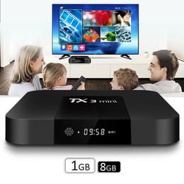 Wholesale quad internet - Amlogic S905W Quad Core TV BOX TX3 mini 1GB 8GB Internet Android 7.1 TV Boxes Full Loaded Wifi DLNA