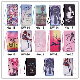 Wholesale Iphone4s Leather Cases Stand - Creative cute lips flowers flip cat Wallet Leather Pouch stand Case For iphone6 6S iphone4S 5S 5C i6 plus S3 S4 S5 S6 S6 edge plus note5