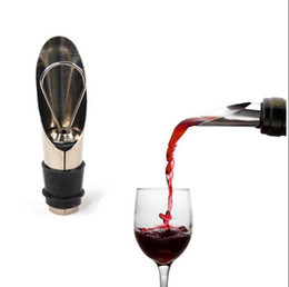 Wholesale Wine Bottle Cap Seal - Wine Stopper Pourers Stainless Steel Wine Funnel Bottle Pourer Dumping Stopper Plug Storage Sealed Plug Cap Bar Tools OOA3595
