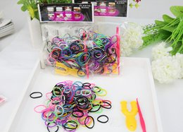 Wholesale Loom Bracelets Charms - NEW Hot Loom Bands 480pcs DIY Woven Rubber Bracelet Bands Colorful Tie Dye Rubber Bands Best Gift for Kids