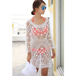 1da24b31c723c Vestidos de novia bathing suit cover ups bohemian bikini swimsuit cover up  white crochet beachwear beach dress
