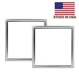 Wholesale Frames Stocks - Stock In US + 48W led panel 600X600mm Silver White frame led panel 2ft X 2ft led light Panel AC 110-240V UL FCC