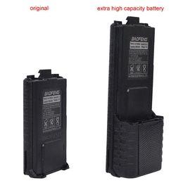 Wholesale Walkie Talkies Black - High Capacity Black BL-5L 3800mAh 7.4V Extended Li-ion Battery for Pofung Baofeng UV-5R UV-5RE Walkie Talkie