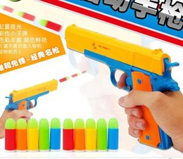 Wholesale Soft Bullet - toys for children rClassic m1911 gun Toys Mauser pistol Children's toy guns Soft Bullet Gun plastic Revolver Kids Fun Outdoor game