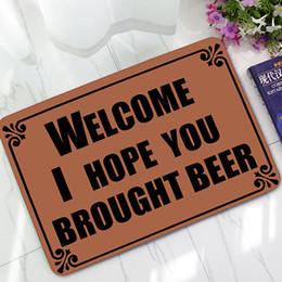 Humorous Lettre maison Paillasson pour porte d'entrée Bienvenue tapis de sol couloir salon salle de bain cuisine tapis tapis d'intérieur / extérieur gratuit navire ? partir de fabricateur