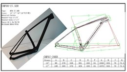 Wholesale Carbon Mtb Bike Frame Full - Carbon Frame MTB 29er Full Suspension Frame MTB Bicycle Carbon Frames With HEADSET UD BSA & BB30 142*12or 135mm *9mm Thru Axle Hanger