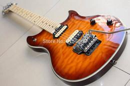 Wholesale Strings For Guitars - New Arrival Custom evhwolfgang Electric Guitar mahogany body maple neck sunburst 120925