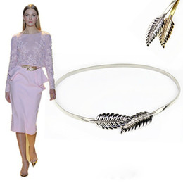 Wholesale Cheap Belt Buckles For Women - Cheap Adjustable Fashion Zuhair Murad Matching Metal Gold Silver leaves Belts Cheap High Quality For Wedding dresses Belt Bridal Sashes