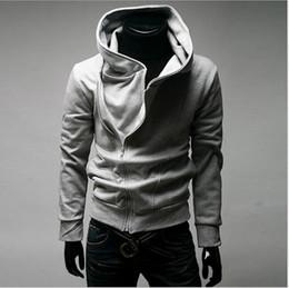 tamanho roupas de inverno sexy Desconto Moda inverno Cinza Preto Mens Slim Fit Sexy Top Projetado Hoodies Moletons Roupas Masculinas Plus Size S-2XL