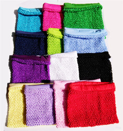 Wholesale Toddlers Tank Tops - 9x10inches Baby Lined Crochet Tutu Top Cute Color Girls Tube Top Chest Warp High Quality Crochet Tube Tops for Toddlers New Arrival CR0810